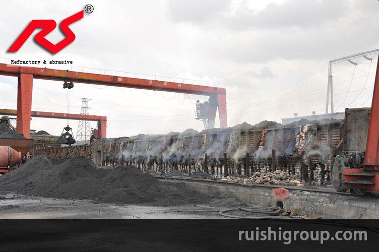 Silicon carbide smelting plant